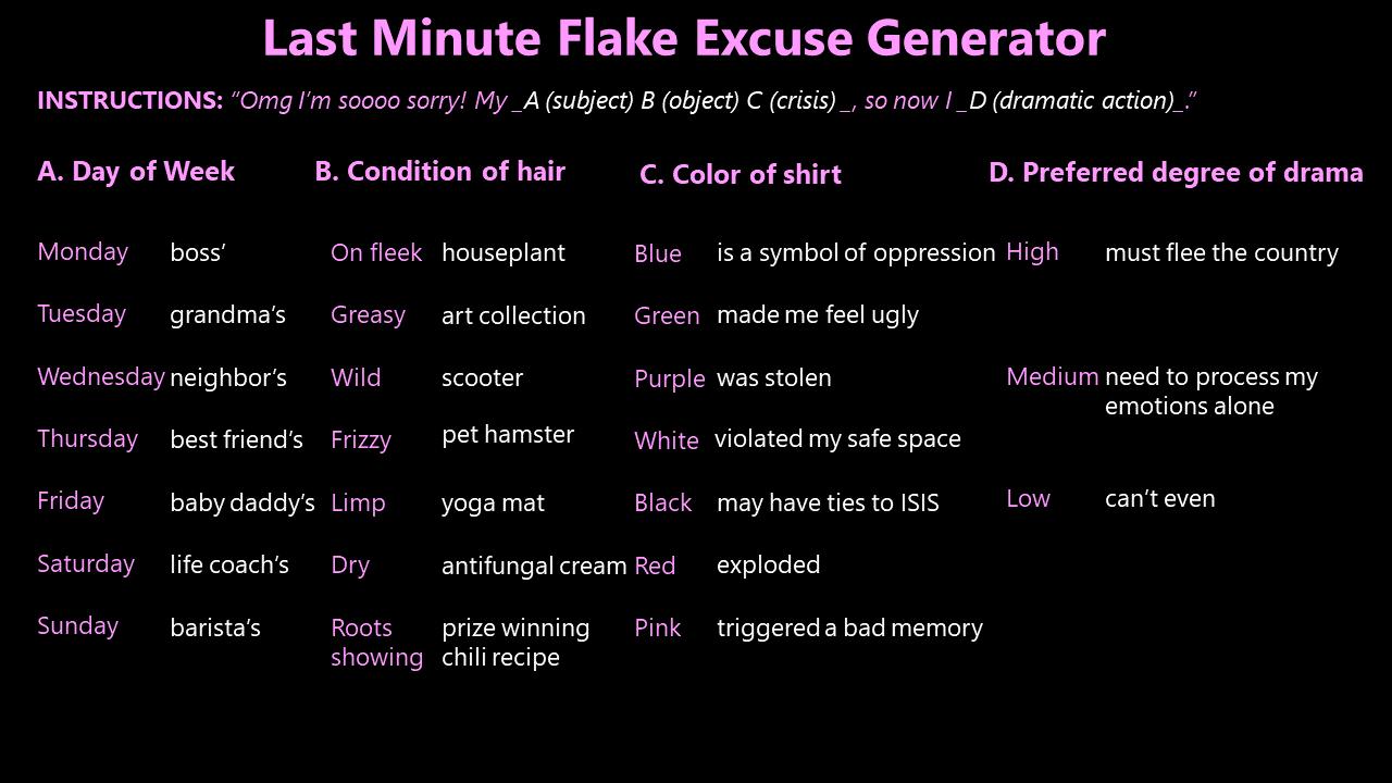 ExcuseGenerator